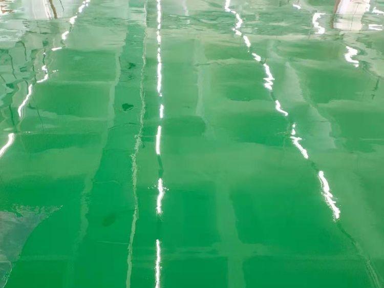 伊戈尔电气无溶剂环氧自流平地坪完工